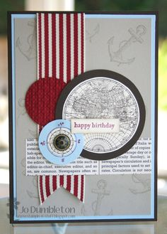 Birthday Card - like the contrast between the circles and straight elements. Nice layering.