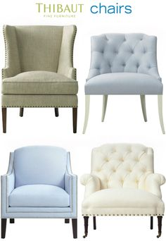 Thibaut Chairs (LOVE THE LINEN one in the top left corner)