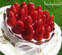 Bocadosdecielo: Tarta de fresas (con mermelada)