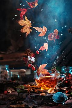 Briar tea with autumn swirl by dinabelenko.deviantart.com on @DeviantArt
