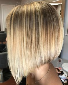 Angled Sunny Blonde Bob for Straight Hair