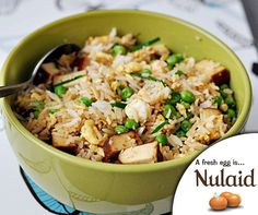 Rice Recipes, Fried Rice, Tofu, Risotto, Eggs, Fresh, Explore, Cooking, Link