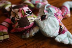 Beanbag Frog  With Safety Eyes by AshtonPublications on Etsy