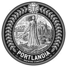 Portlandia Brewing Company Logo created by Steven Noble