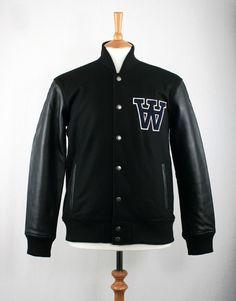 Wood Wood George Street Varsity Jacket - Black