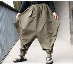 Free shipping Men Japanese Samurai Style trousers Boho Casual Low Drop Crotch Loose pants Linen Harem Baggy Hakama Pants mp11-in Casual Pants from Men's Clothing & Accessories on Aliexpress.com | Alibaba Group