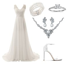 """Women's Wedding Attire"" by erinakruger on Polyvore featuring Blue Nile, Bling Jewelry, Bloomingdale's and vintage"