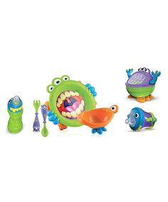 Another great find on #zulily! Green iMonster Mealtime Set by Nûby #zulilyfinds