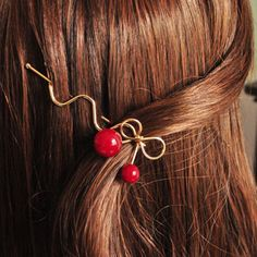 dff49cdf9 LNRRABC Girl Red Cherry Shaped Bowknot Hairpin Twist Hair Clip Hair Pins  Barrette Headwear Jewelry Gift acessorio para cabelo -in Hair Jewelry from  Jewelry ...