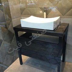 روشویی لوکس سفارشی تمام چوب سرویس بهداشتی مدل لوسی