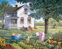 John Sloane ~ country home in the summer ~ garden