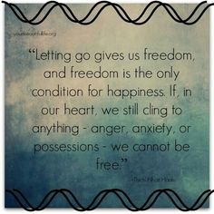 letting go. freedom. happiness.