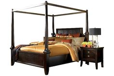 Sable Martini Suite California King Poster Bed with Canopy View 2