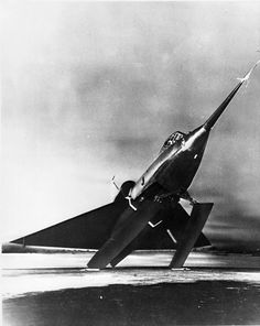 The lone YF2Y-1 Sea Dart prototype that featured twin skis. U.S. Navy photo