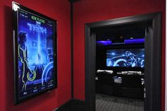 Guests know what's playing as they enter the theater thanks to the virtual movie poster displayed on a 40-inch LCD TV.