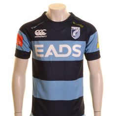 Canterbury Cardiff Blues Home Pro Rugby Shirt Navy, Sky and White - £55.00 at ShopRugby.com #Rugby #CardiffBlues