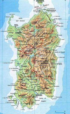 Map of Sardinia, #Sardegna