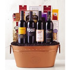 Ultimate Indulgence Wine Basket from Wine of the Month Club, Find out more: http://shareasale.com/r.cfm?b=601071&u=902724&m=47747&urllink=&afftrack= #gift bakets #Wine Baskets #Wine