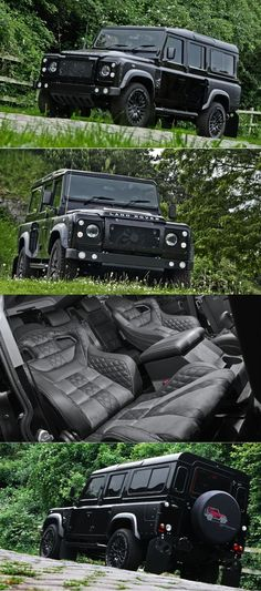 2015 Land Rover Defender by Kahn Design. Would like to make my Jeep look like this! Land Rover Defender 110, Defender 90, Land Rover Defender Interior, My Dream Car, Dream Cars, M Bmw, Kahn Design, Navara D40, Automobile