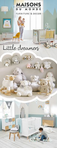 Let them rest their sleepy heads by creating a nursery of dreams. Our baby collection is full of furniture and accessories to make you coo; cots, changing tables, storage and soft toys will give your baby room to grow. | Maisons du Monde