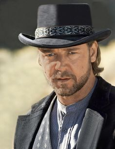 """Russell Crowe: Ben Wade in to Yuma"""". Best western remake ever! Actors Male, Actors & Actresses, 3 10 To Yuma, Cowboys And Indians, Real Cowboys, Russell Crowe, Beard Lover, Bear Men, Western Movies"""