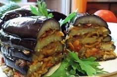"I offer you a tasty and flavorful dish of Turkish cuisine eggplant! It is not intended to be a ""holiday"", but very tasty and homemade. Vegetable Dishes, Vegetable Recipes, Vegetarian Recipes, Cooking Recipes, Russian Recipes, Turkish Recipes, Ethnic Recipes, My Favorite Food, Favorite Recipes"