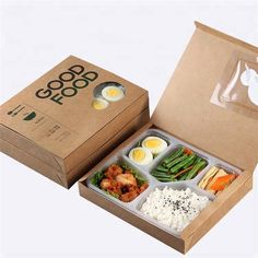 Custom Printed Lunch Box With 6 Compartment - Buy Lunch Box,Custom Printed Lunch Box,Lunch Box With 6 Comparment Product on Alibaba.com Sandwich Packaging, Salad Packaging, Food Box Packaging, Food Packaging Design, Lunch To Go, Lunch Box, Comida Delivery, Breakfast Basket, Cafe Food