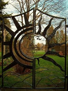 Suun - Two Door Garden Gate by Mark Puigmarti