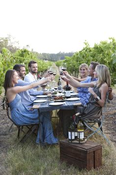 Degen Hunter Valley - harvest long lunch with friends Outdoor Tables, Outdoor Decor, Cellar, Harvest, Outdoor Furniture Sets, Vineyard, Lunch, Friends, Amigos