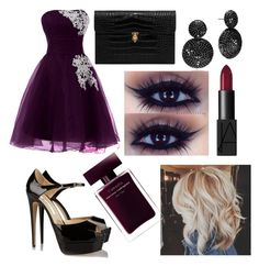"""Dark night star light"" by hannahlee01 on Polyvore featuring Alexander McQueen, Brian Atwood and NARS Cosmetics"