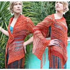 Kit - Asymmetric Poncho Redux - Tunisian Crochet - Alp Natural