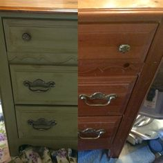 Another DIY Annie Sloan Chalk paint special! Chateau Grey, brushed lightly with dark soft wax.