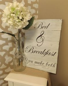 Bed and Breakfast sign by Homeaccentsbymelissa on Etsy