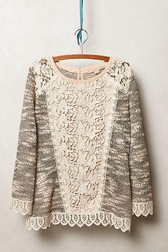 Champagne & Strawberry Emerson Pullover ($88.00, nude, Polyester/Cotton, Imported) #anthropologie
