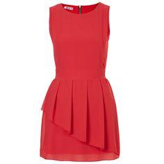 **Peplum Chiffon Dress by Wal G ($53) ❤ liked on Polyvore