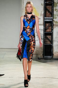 Another pretty dress from Proenza Schouler (Spring 2013 Ready-to-Wear).  But what's with the thick choker?