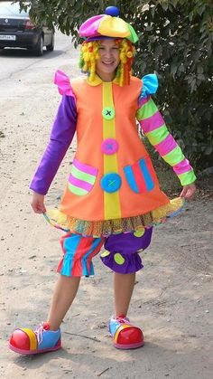 Clown Halloween Costumes, Monster Costumes, Halloween Carnival, Theme Halloween, Carnival Costumes, Baby Costumes, Adult Costumes, Circus Theme Classroom, Female Clown