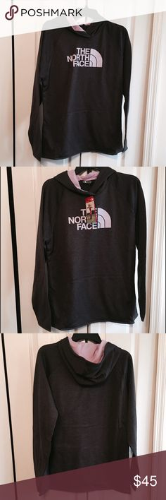 North Face Hoodie XL NWT Pink and Gray Pink and Gray North Face Hoodie XL North Face Tops Sweatshirts & Hoodies