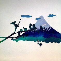 Mt Fuji Illustration, Jack and Molly