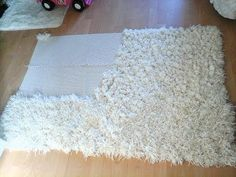 Diy shaggy rug - YouTube More