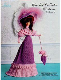 Vestido de boneca de crochê