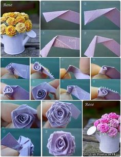 28 best ribbon flowers images on pinterest fabric flowers ribbon inspiring image cute paper rose tutorial by nastty resolution find the image to your taste mightylinksfo