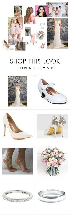 """""""Isabella Wedding"""" by rheiashannon ❤ liked on Polyvore featuring Nicole Miller, Jim Hjelm, Penny Loves Kenny, Ted Baker, Philippa Craddock and Tiffany & Co."""