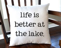 Canvas Pillow  Lake House Decor  Cabin by JoaniesFavoriteThing