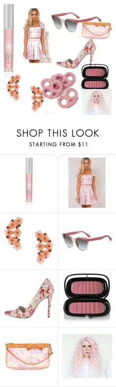 """""""Cherry pink"""" by hzmwilcox ❤ liked on Polyvore featuring Lipstick Queen, I.AM.GIA, Miss Selfridge, Kate Spade, Alice + Olivia, Marc Jacobs and Louis Vuitton"""