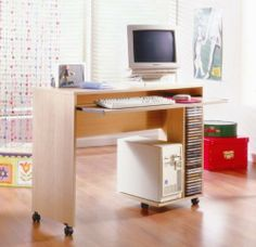 Azbi Mobile Computer Desk By Nexera Furniture # 569 by Nexera Furniture. $152.49. Plenty of CD Storage. This Mobile Computer Desk is perfect for bedrooms and dorms. It has a CPU shellf, keyboard shelf and on casters for easy mobility # 569