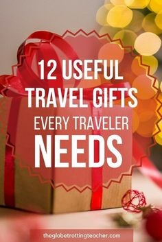 12 Useful Travel Gifts Every Traveler Needs - Need a Christmas gift idea for the traveler on your shopping list? These are travel essentials every traveler needs and they make the perfect holiday gifts and stocking stuffers! Travel Advice, Travel Tips, Travel Packing, Travel Hacks, Travel Checklist, Packing Lists, Travel Articles, Travel Quotes, Time Travel