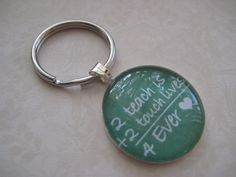 TO TEACH is to Key chain for Teachers or Mentors by Nazcreations, $9.95