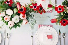 Poppy Red and Blush Bridal Shower Inspiration Wedding Color Schemes, Wedding Colors, Wedding Ideas, Red Bridal Showers, Red Centerpieces, Shower Inspiration, Red Poppies, Event Planning, Poppy Red