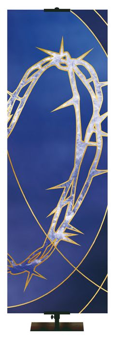 Liturgical Crown of Thorns Banner for Lent and Easter